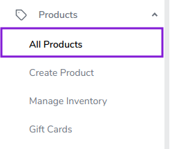 Adding products to Tradift dashboard